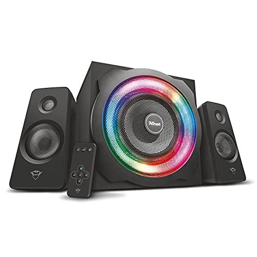 Trust GXT 629 Tytan 2.1 Lautsprecher Set (120W, mit Subwoofer und RGB...