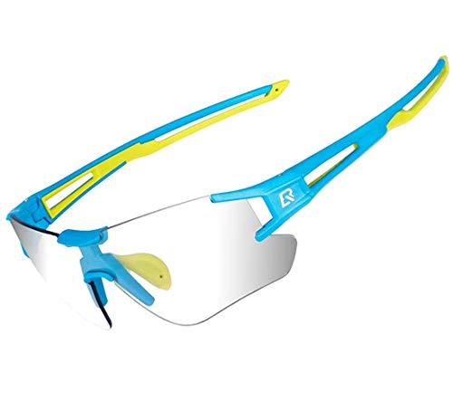 ROCKBROS Radsport Sonnenbrille Damen Herren Photochrome mit UV400...