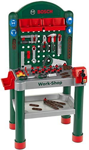 Theo Klein 8320 Bosch Workshop I 79-teilig Arbeitsplatte mit...