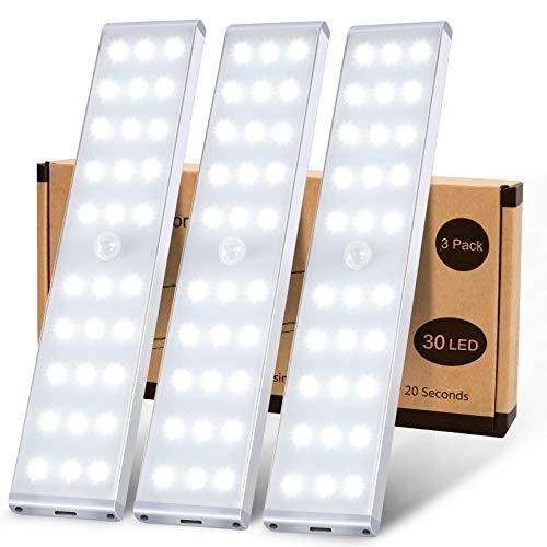 Schrankbeleuchtung, MEQLIN Super Helles 30 LED Schrankleuchten mit...