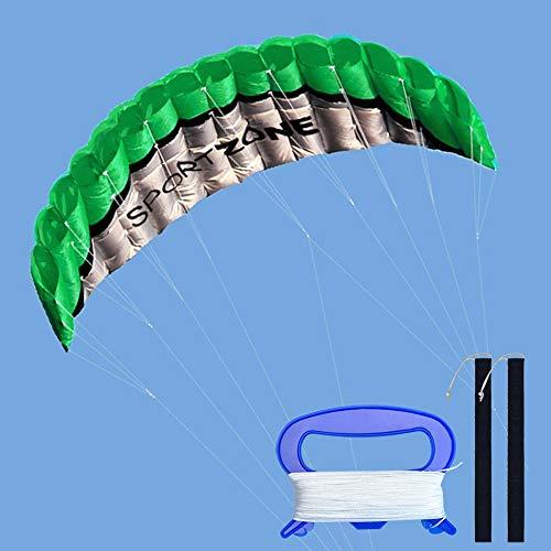 Kwasyo 2.5m Dual Line Stunt Sport Drachen mit Handgriff 30m String,...