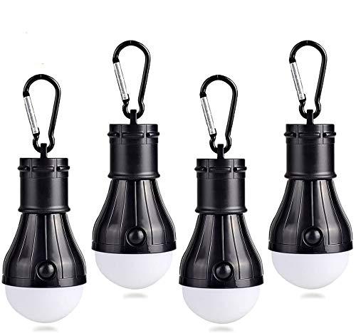 JTENG Campinglampe mit Karabiner Camping Lantern 4 Stücke Camping LED...
