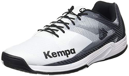 Kempa Herren Wing 2.0 Handballschuhe, Mehrfarbig (Weiß/Schwarz 03),...