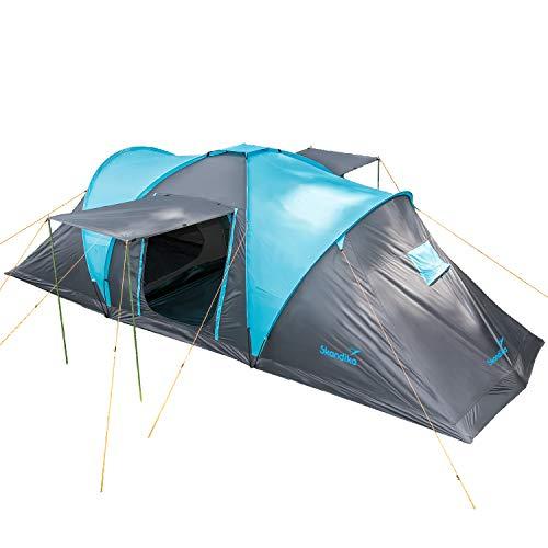 Skandika Kuppelzelt Hammerfest für 6 Personen | Campingzelt mit...