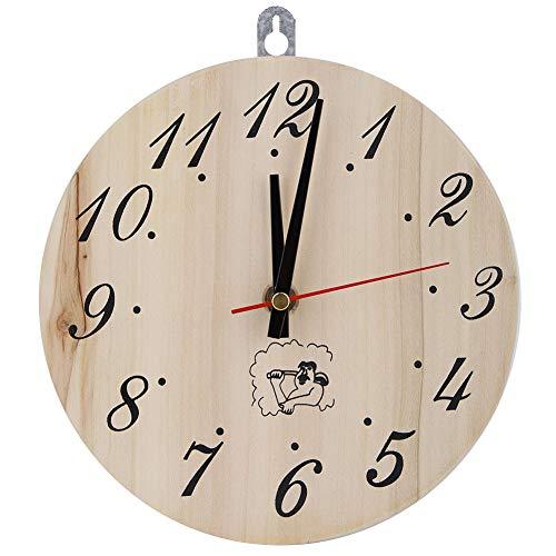 Duokon Holz Wanduhr Analog Runde Uhr 8in Sauna Uhr Dekorative Sanduhr...