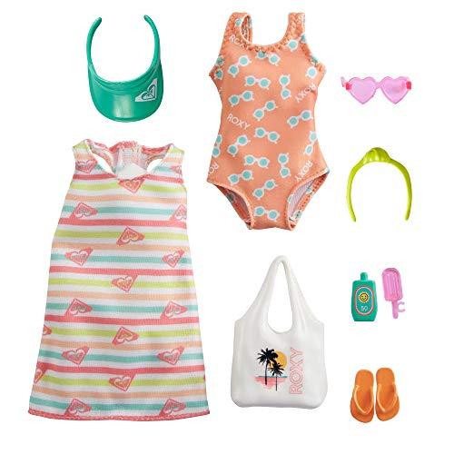 Barbie GRD57 - Moden für die Barbie-Puppe: Roxy Modeset mit Badeanzug...