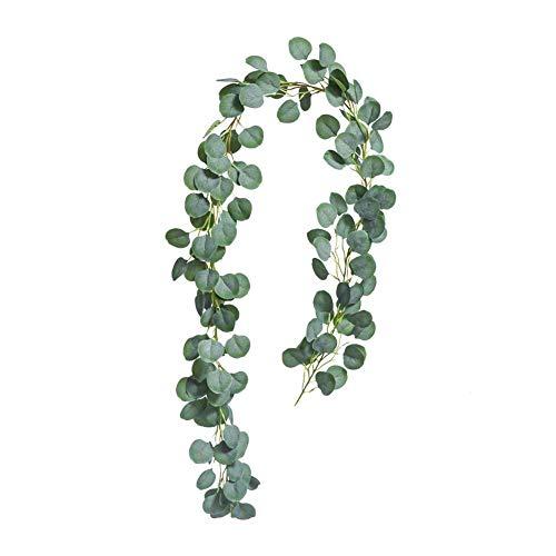 LinTimes Eukalyptus Künstlich Blätter, Künstliche Pflanze Girlande...
