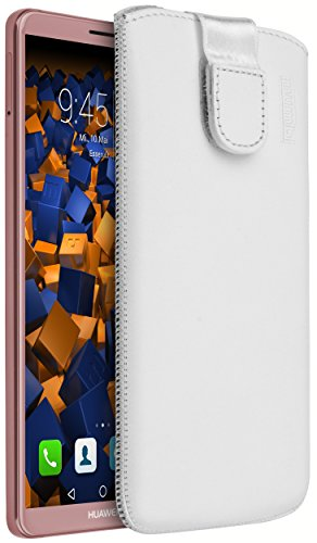 mumbi Echt Ledertasche kompatibel mit Huawei P9 Hülle Leder Tasche...