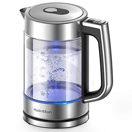 HadinEEon Wasserkocher mit Temperatureinstellung, Edelstahl...