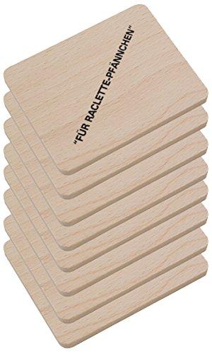 HOFMEISTER® Raclette Zubehör aus Holz, Schaber und Untersetzer für...