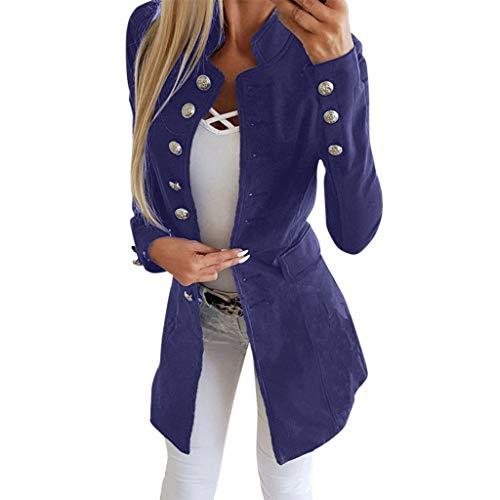Kaiki Damen Tailliert Blazer mit Knopfleiste Military Coat Slim Fit...