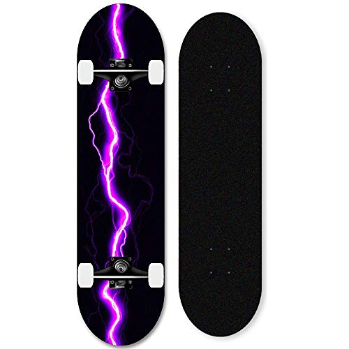 31-Zoll-Ahorn-Skateboard komplettes Deck für Anfänger,...