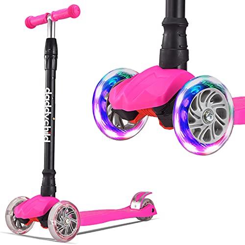 Roller Kinder Dreiradscooter mit PU LED Leuchtenden...
