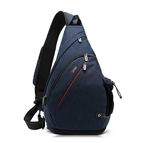 TUDEQU Crossbody Backpack Sling Chest Bag Backpack Hiking Casual...