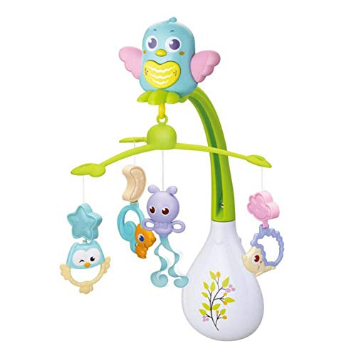 Babybett Mobile Hanging With 16 Melodies Rotating Musical Rattle...