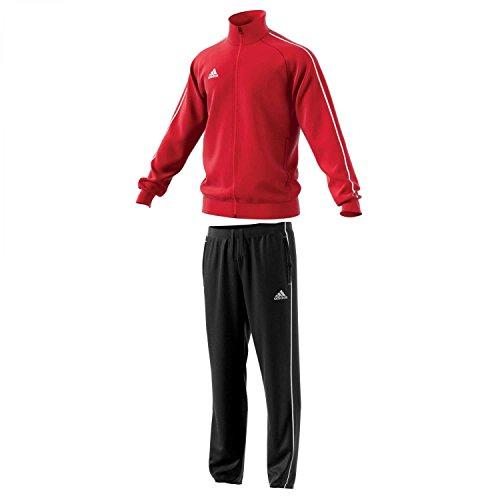adidas Kinder Polyesteranzug Core 18 Power red/White 164