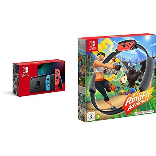 Nintendo Switch Konsole - Neon-Rot/Neon-Blau + Ring Fit Adventure -...