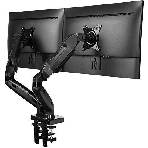 HUANUO Monitor Halterung 2 Monitore, Gasdruckfeder Arm 360° Drehbar...