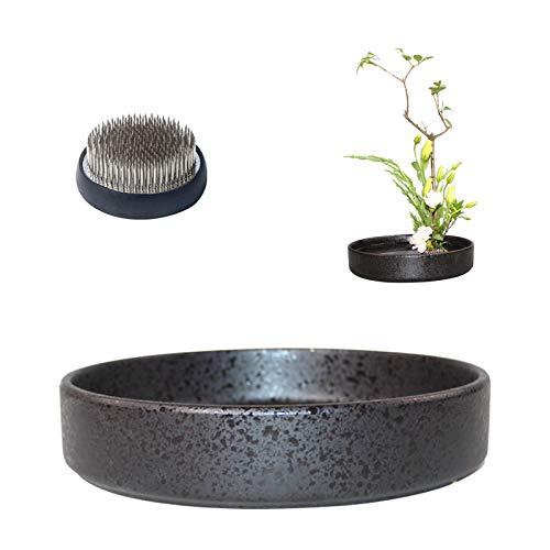 WANDIC Blumenarrangement-Zubehör, runde ikebana-Vasen aus Keramik mit...