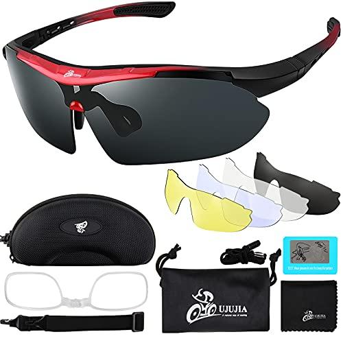 Fahrradbrille Sportbrille Sport Sonnenbrille Unisex Polarisierte UV400...