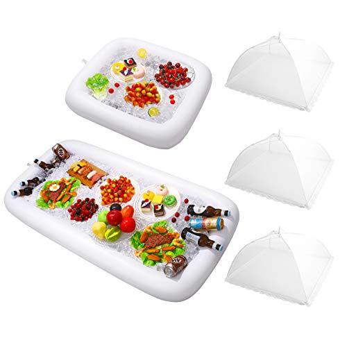 HEMOTON 2 Aufblasbare Tabletts mit 3 Lebensmittel Abdeckung Zelts -...