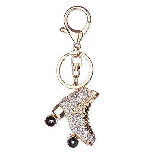 Meigold Diamant-besetzte Schlüsselanhänger Rollschuhe Schlüsselbund...