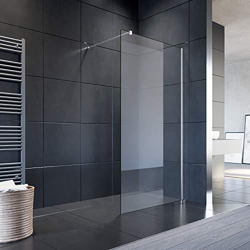 SONNI Duschwand Glas 120 x 200 cm Walk In Dusche 8 mm NANO Glas...