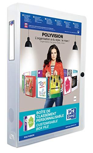 Oxford 100200142 Kunststoff-Sammelbox polyvision 4 cm breit DIN A4...