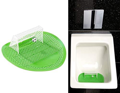 PEARL Urinal Spiele: Lustiges Fußball-Urinal-Sieb, 18,5 x 19,5 cm,...