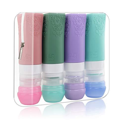 Silikon Reiseflaschen Set, PYJR Auslaufsicher Reise-Container BPA-frei...