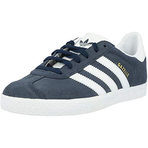 adidas Unisex-Kinder Gazelle Sneakers, Blau (Collegiate Navy/footwear...