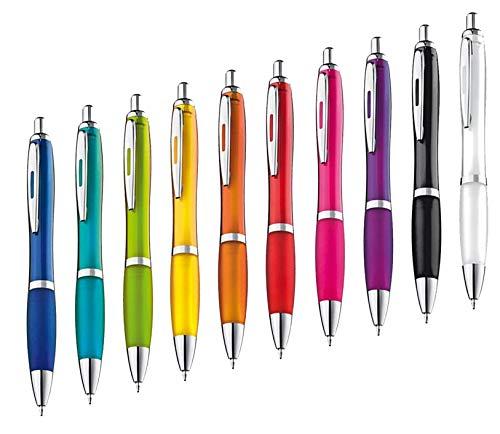 presents & more 10 Stck Kugelschreiber in trendigen Farben (farbig...