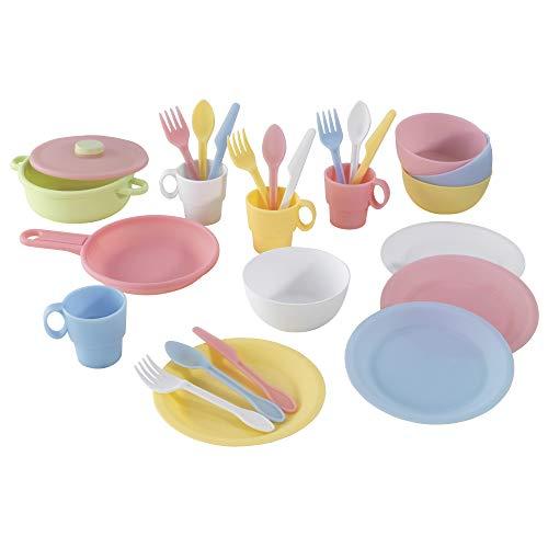 KidKraft 63027 27-teiliges Küchen-Spielset Spielzeug-Geschirrset,...