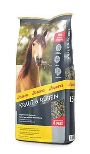 JOSERA Kraut & Rüben (1 x 15 kg)   Premium Pferdefutter ohne Getreide...