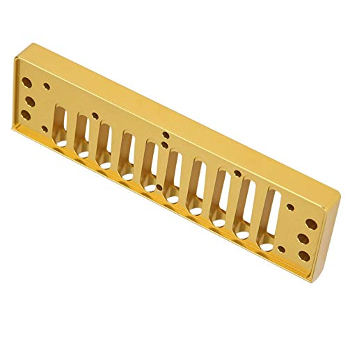 Hyuduo1 10 Loch Blues Harmonica Comb, Feinpolier Harfenkammteil für...