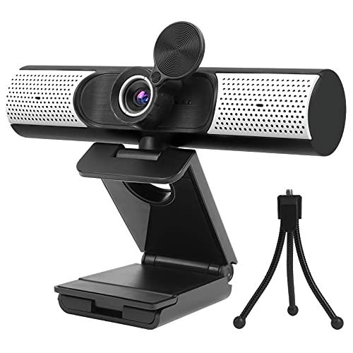 Webcam 1080P mit Mikrofon, Lautsprecher Abdeckung, FHD USB Webcam mit...