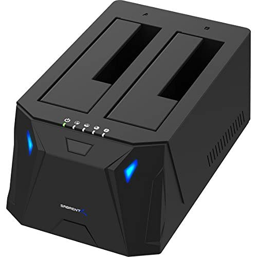 Sabrent USB 3.0 zu SATA I/II/III Dual Bay Externe Festplatte...