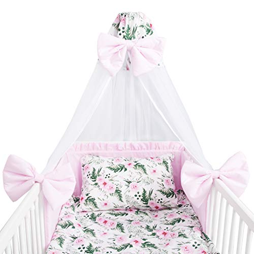 Amilian Baby Bettwäsche 7tlg Set mit Nestchen Kinderbettwäsche...