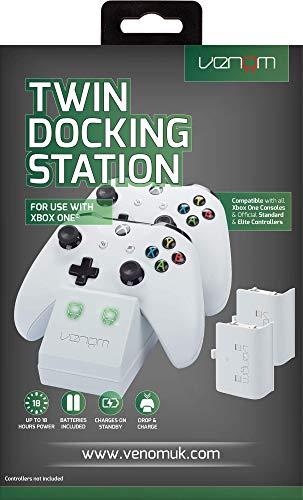 Venom Twin Docking Station inkl. 2 Zusatzakkus für Xbox One & One S -...