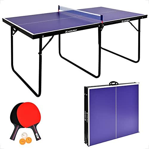 WIN.MAX Tischtennisplatte Midsize, Klappbare Tischtennistisch mit...