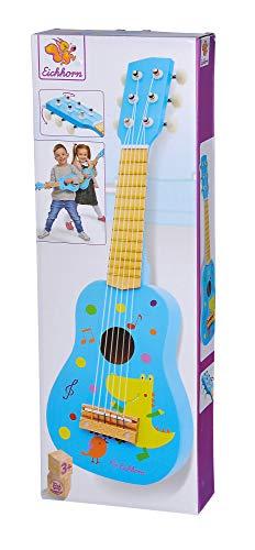 Eichhorn 100003480 Musik Holzgitarre stimmbare Gitarre aus Holz mit...