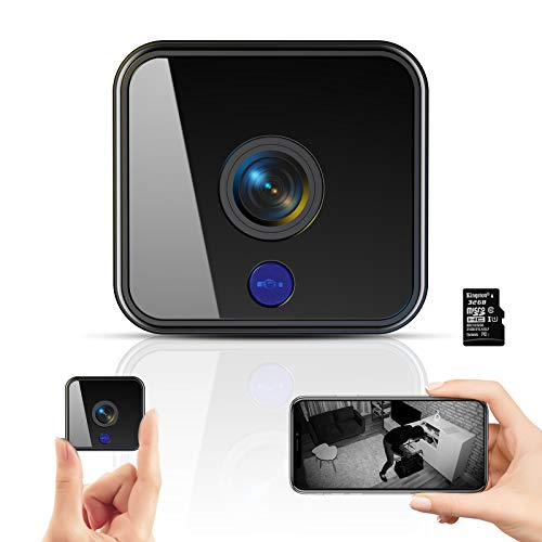 Mini Kamera,1080P HD Überwachungskamera Micro WiFi Akku Kleine Kamera...