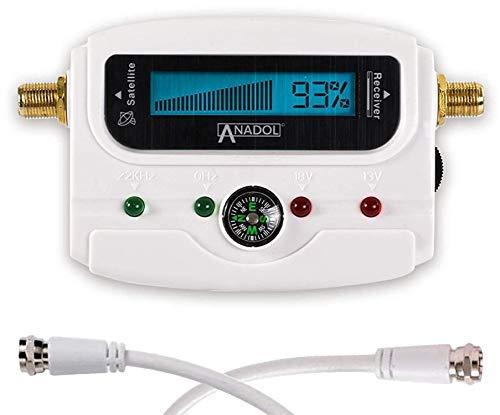 Anadol SF33 White LCD digitaler Satfinder - Satelliten Messgerät...