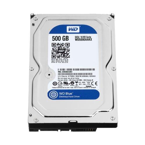 Western Digital WD5000AAKX Blue 500GB interne Festplatte (8,9 cm (3,5...