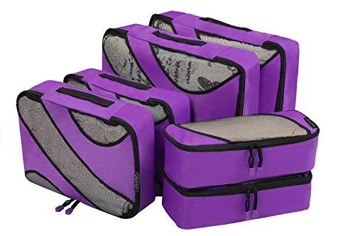 Amazon Brand - Eono 6 Teilige Kleidertaschen, Packing Cubes,...
