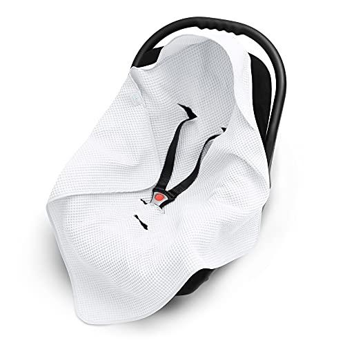 EliMeli Einschlagdecke für Babyschale 100% Baumwolle Leichte Baby...