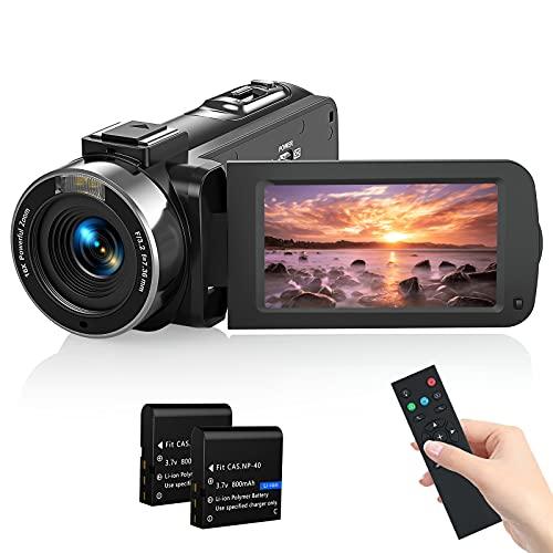 Videokamera Camcorder, MELCAM 1080P 30FPS Vlogging Kamera Recorder...