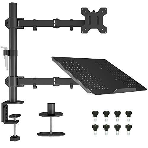 BONTEC Monitor Halterung mit Laptop Arm für 13-27 Zoll LCD LED...