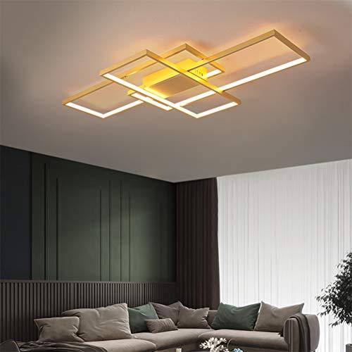 Wohnzimmerlampe LED Deckenleuchte Dimmbar Deckenlampe 80W Gold Modern...