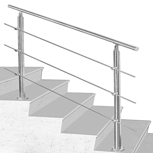 Hengda Edelstahl-Handlauf Geländer für Treppen Brüstung Balkon Ø...